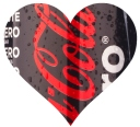 coke zero small heart