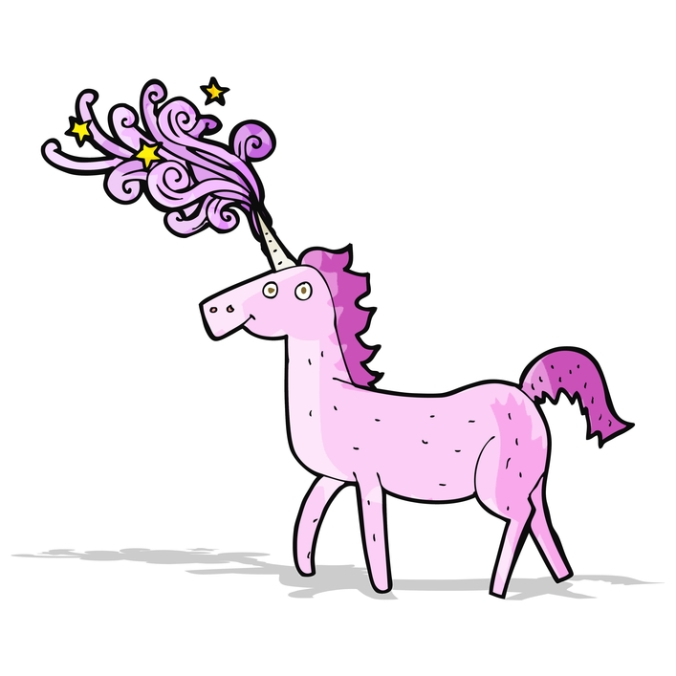 cartoon magical unicorn